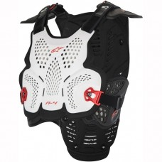 ALPINESTARS A4 CHEST PROTECTOR WHITE/BLACK/RED