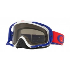 OAKLEY CROWBAR GOGGLE CHECKED FINISH RED/WHITE/BLUE- DARK GREY LENS