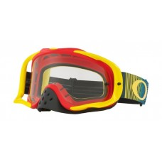 OAKLEY CROWBAR GOGGLE SHOCKWAVE RED/YELLOW/BLUE- CLEAR LENS
