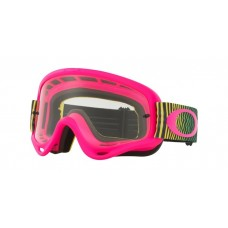 OAKLEY O FRAME GOGGLE SHOCKWAVE FLO PINK/YELLOW/GREEN- CLEAR LENS