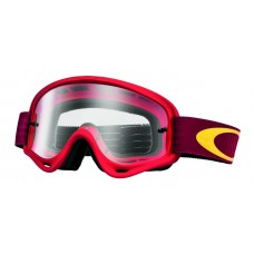 OAKLEY XS O FRAME GOGGLE SHOCKWAVE RED/YELLOW - CLEAR LENS