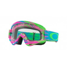 OAKLEY XS O FRAME GOGGLE HIGH VOLTAGE PINK/BLUE- CLEAR LENS