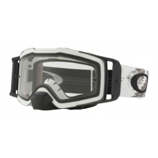 OAKLEY FRONT LINE GOGGLE MATTE WHITE- CLEAR LENS