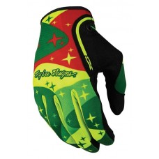 TROY LEE DESIGNS XC GLOVES 2016 COSMIC FLO YELLOW/GREEN